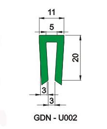 U型垫条 6F-D-009